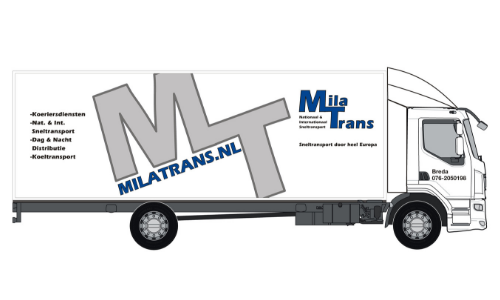 Mila Transport Daf vast